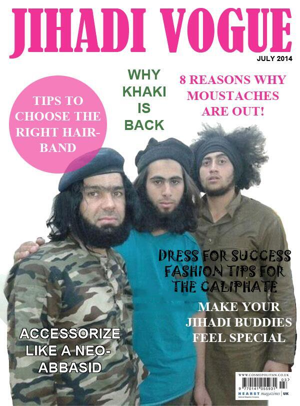 Jihadi Vogue tips to choose the right hair band why khaki is back 8 reasons why moustaches are out dress for success fashion tips for the caliphate accessorize like a neo-abbassid make your jihadi buddies feel special